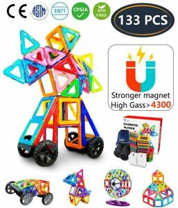 Magnetic Building Tiles 113pc 3D Construction Block Toy for Toddler Kid Children