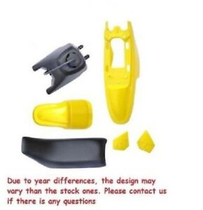 YELLOW PLASTIC SET GAS TANK SEAT FOR PW50 YZinger PY50 M PS33 $79.99