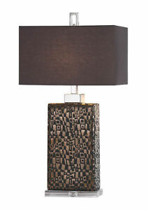 Olavo Etched Dark Bronze Ceramic Table Lamp by Uttermost #27578-1