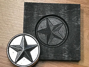 3D Star coin Graphite mold for Silver Gold Glass Ingot casting lamp works optic