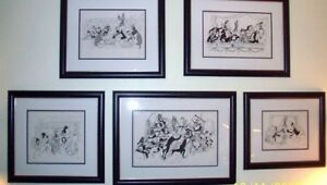Hirshfeld Signed Lithographs 17 350 Warner Bros Characters Theatrical Scenes Set $15000.00