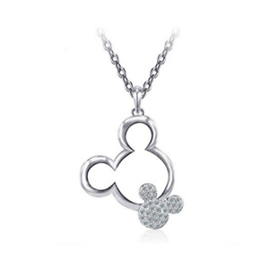 Necklace Set Trendy Character Jewelry for Teenage Girls White Gold Plated