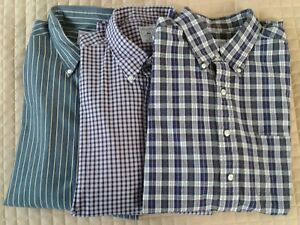 Lot of 3 Brooks Brothers Sport Shirts Button Down Long Sleeve XL Cotton