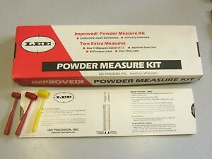 Original LEE Improved Powder Measure Kit with extras Lot - 1978 USA