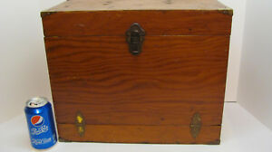 Vintage Wooden Fishing Tackle Box Store Your Wood Lures Reels And Misc. Items