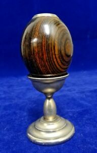 Vintage Van Cort Instrument Co Exotic Wood Egg Shaped Kaleidoscope With Stand