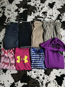Lot of 8 Pieces Girls Clothing 1214 Under Armor Abercrombie Justice