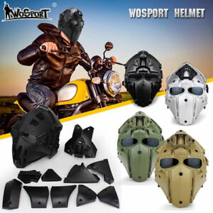 Helmet Airsoft Paintball CF CS Game Full Face Mask Tactical Protective