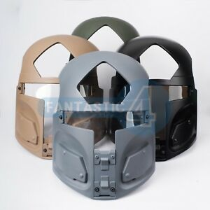 Boba Fett Style Protective Paintball Mask for Ops-core Crye Mich Helmet multicam
