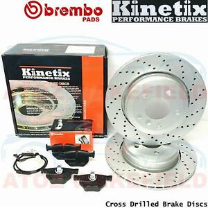 FOR BMW 5 SERIES E60 E61 520d 525d 530d REAR PERFORMANCE BRAKE DISCS BREMBO PADS
