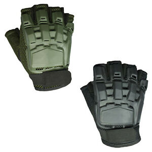 Men#x27;s Half Finger Plastic Back Airsoft Paintball Tactical Gloves $9.99
