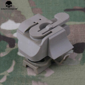 EMERSON Tactical Light Mount FAST Helmet Rail Connector Airsoft Hunting HL1-A BK