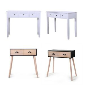 Wood Small Desk Writing Computer Retro Table wDrawers Laptop Workstation 2 Type