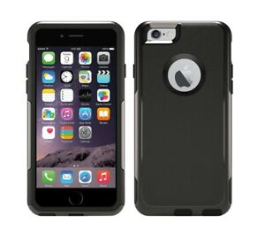 Iphone 6 & 6S BLACK case with screen protector (fits otterbox commuter holster)