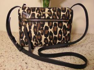 kate spade New York Charles Street Leopard Cayli Cross Body Bag Decobeige