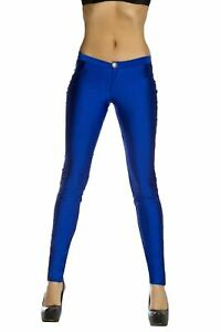Royal Blue Button Front Pants w Pocket Detail (Turquoise also available)