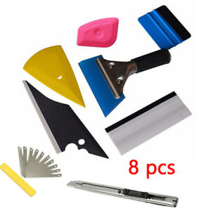 8in1 Squeegee Car Window Tinting Auto Film Install Wrapping Applicator Kit Part