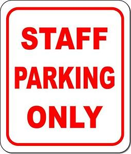 Staff parking only metal outdoor sign long lasting $36.79