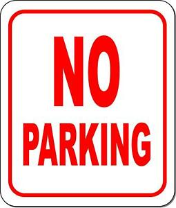 No parking metal outdoor sign long lasting $36.79