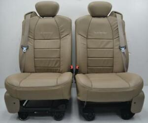 1999 - 2010 FORD F250 F350 SUPER DUTY EXCURSION TAN LEATHER POWER HEATED SEATS