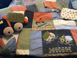 Oshkosh Baby Under Construction Crib Bedding Set With Extras $80.00