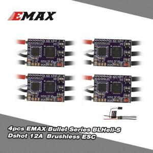 4Pcs EMAX 12A Brushless ESC Bullet Series BLHeli-S Dshot 2-4S for Racer NEW M3J7