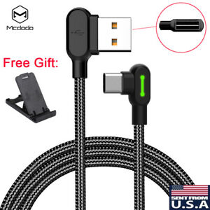 MCDODO 90 Degree Right Angle Braided USB Charger Charging Sync Type C Cable Cord $9.99