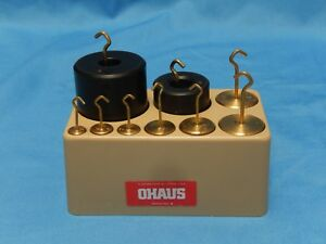 9 Graduated Ohaus Scale Weights