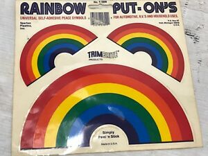 RAINBOW Sticker Decal Vintage 90s Put-Ons NEW Set of 3