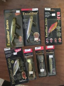 25 Vintage Lures! Most Still In Boxes! Bandit Excalibur And Mann's Bait Co.!