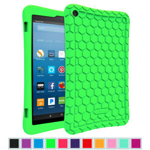 For New Amazon Fire HD 8 8th Gen 2018  7th Gen 2017 Tablet Silicone Case Cover