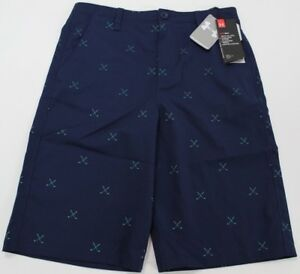 UNDER ARMOUR YOUTH Boy's UA Match Play Printed Golf Shorts NWT Loose Fit SIZE 18