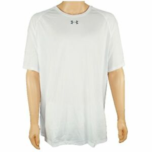 UNDER ARMOUR HEATGEAR SS T-SHIRT DRY WICK LOOSE FIT MENS SIZE 3XL WHITE NWT