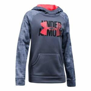 Under Armour Girls' Fleece Big Logo Printed Hoodie - Choose SZColor