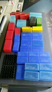Plastic Cartridge Ammo Boxes storage reloader rifle pistol lot 40 pieces used