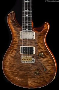 PRS Custom 24 Wood Library 10 Top Flame Maple Neck Autumn Sky (705)