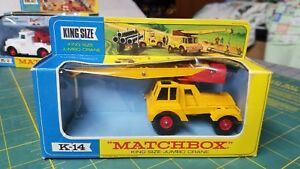 Vintage Matchbox K-14 Jumbo Crane Construction Vehicle King Size Unused in Box