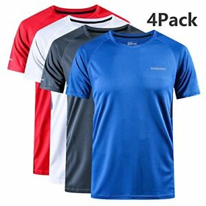 YAWHO Men's Quick Dry Sport T-Shirt Short Sleeve Athletic Training Fitness Tee 1