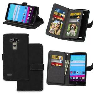 Scrub Magnetic Flip PU Leather Wallet Stand Case for LG G3 G4 G5 G6 Q6 Stylus 2
