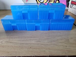 BERRY'S PLASTIC AMMO BOXES (5) BLUE 50 Round 270  30-06