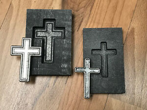 Cross SET Graphite mold for Silver Gold Brass Copper 5ozt and 1ozt Ingot