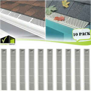 PACK OF SNAP IN WHITE GUTTER GUARD COVER SCREEN DEBRIS LEAF PROTECTION 3FT UNITS