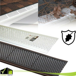 White Brown FILTER GUTTER GUARD PACK Snap In Covers Leaf Debris ROOF Protect $32.99
