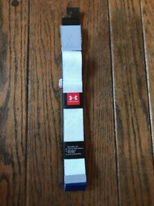 Mens Under Armour Golf Webbing Reversible Belt 1306535 White One Size Fits All