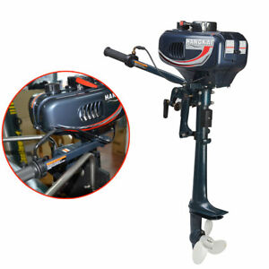 Boat 2 Stroke 3.5HP Outboard Motor Fishing Boat EngineWater Cooling System