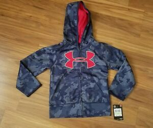 NWT Under Armour Boys Midnight Navy Zip Hoodie Jacket~Size 4 Youth~ MSRP $42.99