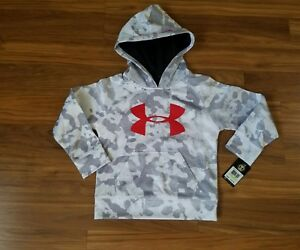 NWT Under Armour Boys Camouflage White Hoodie ~Size 4 ~ MSRP $42.99