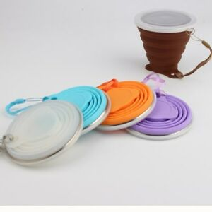 Portable Silicone Retractable Folding Cups Telescopic Collapsible Travel Camping