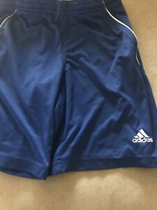 Boys S Adidas Clima Lite Royal Blue Dry Fit Shorts Front Pockets $18.00