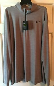 Nike Dri-Fit 2xl Tall Zip neck Shirt Long Sleeve New With Tags